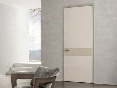 Hinged lacquered tempered glass door HEADLINE | Hinged door