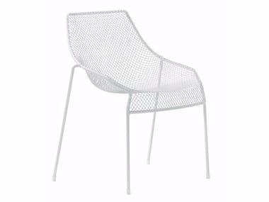 Stackable steel garden chair HEAVEN | Chair