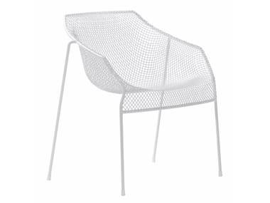 Garden stackable steel easy chair HEAVEN | Easy chair