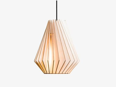Plywood pendant lamp HEKTOR