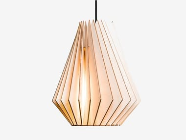 Plywood pendant lamp HEKTOR L