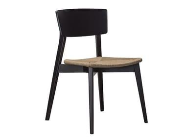 Sedia impilabile in faggio con schienale aperto HELLEN SE05