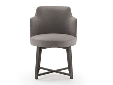 Upholstered chair with armrests HERA | Chair with armrests