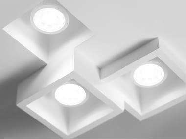 Lampada da soffitto a LED in gesso a incasso HERAEA | Lampada da soffitto a incasso