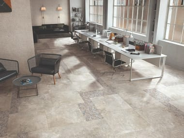 Porcelain stoneware wall/floor tiles with stone effect HERITAGE BEIGE