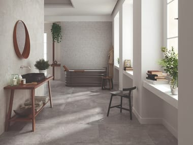 Porcelain stoneware wall/floor tiles with stone effect HERITAGE GREY