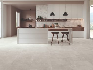 Porcelain stoneware wall/floor tiles with stone effect HERITAGE IVORY