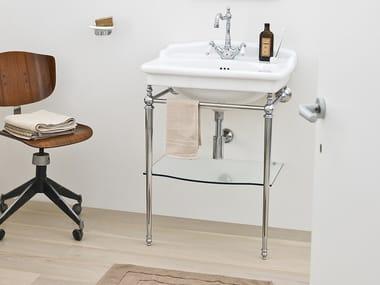 Console washbasin with towel rail HERMITAGE | Console washbasin