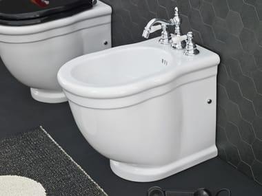 Floor mounted ceramic bidet HERMITAGE | Floor mounted bidet