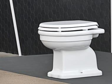 Floor mounted ceramic toilet HERMITAGE | Floor mounted toilet