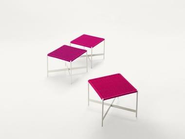 Low fabric garden stool HERON | Stool