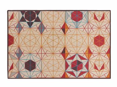 Rectangular wool rug HEXA | Rectangular rug