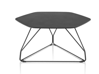 Table basse hexagonale en métal POLYGON WIRE | Table basse hexagonale