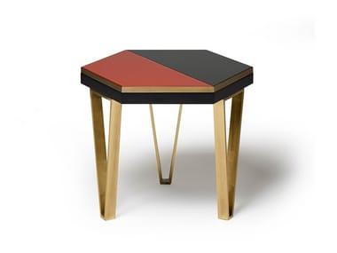 Low hexagonal coffee table JOE | Hexagonal coffee table