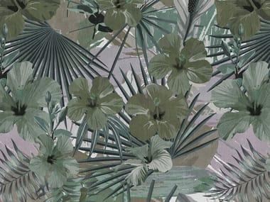 Digital printing Tropical wallpaper HIBISCUS