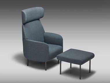 High-back fabric armchair NONA | High-back armchair