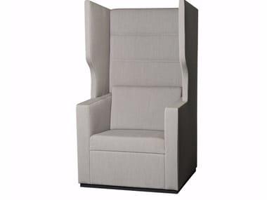 Sessel aus Stoff mit hoher Rückenlehne TANK | Sessel mit hoher Rückenlehne