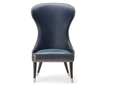 High-back fabric armchair CAMELIA | High-back armchair
