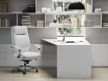 High-back executive chair with 5-spoke base SELECTA | High-back executive chair