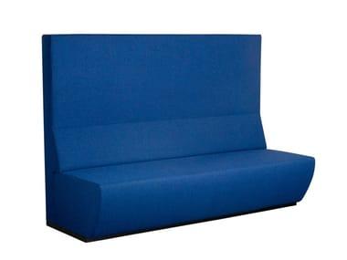 Anbausofa aus Stoff mit hoher Rückenlehne TRAIN BENCH | Sofa mit hoher Rückenlehne