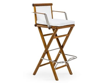 High garden stool with armrests MAXIM | High stool