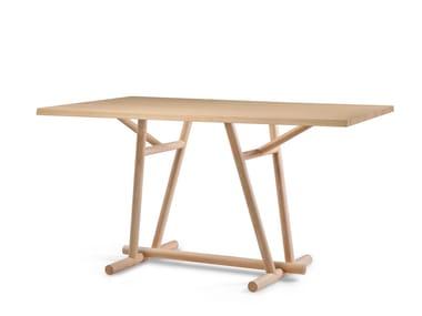 Tavolo in legno WOODBRIDGE | Tavolo alto