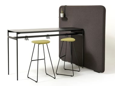 Hight HPL and metal office workstation with desk screens SNAKE | Office workstation with desk screens