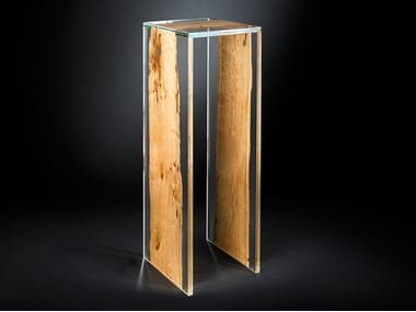 Wood and glass high table VENEZIA | High table