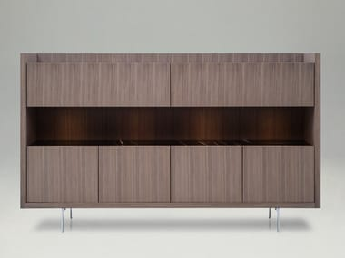 Wooden highboard with integrated lighting LIAGÒ | Highboard