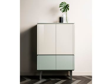 Wooden highboard with doors ARCHETIPO | Highboard
