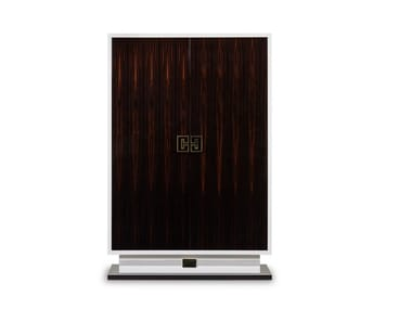 Lacquered wooden highboard with doors SUBLIME | Highboard