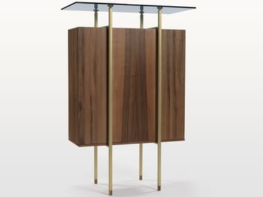 Walnut highboard with doors SERICA   Highboard
