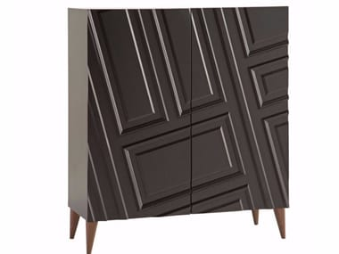 Lacquered MDF highboard with doors ASTRAGALE | Highboard