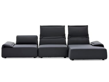 Sectional fabric sofa with removable cover HIGHLANDS | Sofa