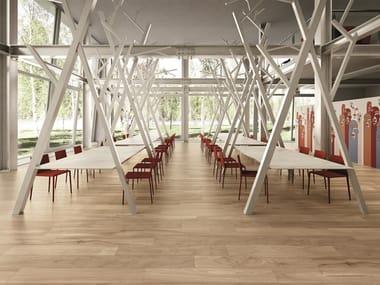 Pavimento/rivestimento effetto legno per interni ed esterni HIKE LIGHT