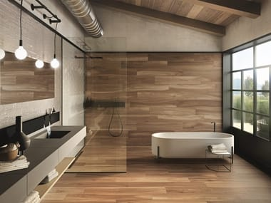 Indoor/outdoor wall/floor tiles with wood effect HIKE LODGE