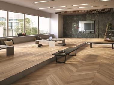 Pavimento/rivestimento effetto legno per interni ed esterni HIKE NUANCE