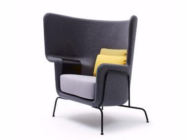 High-back fabric lobby chair HIP | Armchair