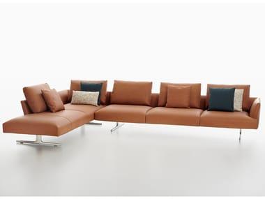 Corner leather sofa HIRO | Leather sofa