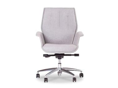 Poltrona ufficio direzionale con schienale medio HIVE | Poltrona ufficio direzionale con schienale medio