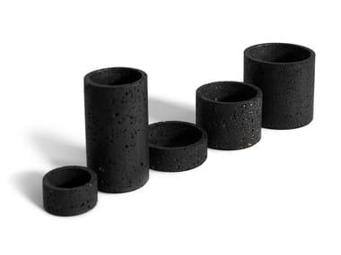 Vaso / contenitore in pietra lavica HOLD | Vaso