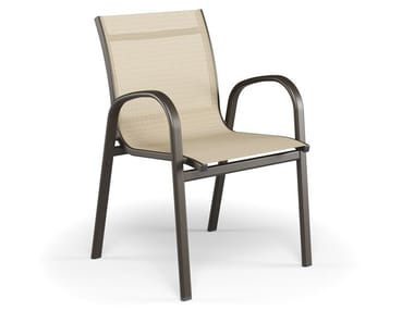 Sedia da giardino con braccioli HOLLY | Sedia