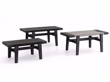 Contemporary style wooden bench HOME HOTEL | Elm bench