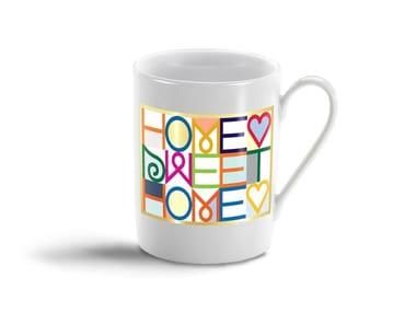 Porcelain espresso cup HOME SWEET HOME MUG