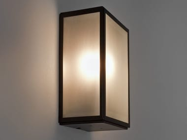 Glass and Stainless Steel outdoor wall lamp HOMEFIELD FROSTED