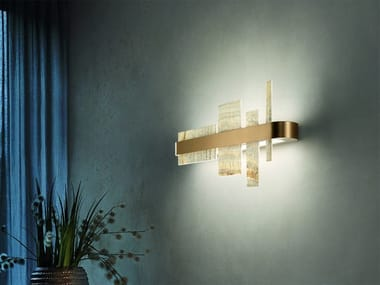 LED wall lamp in metal and onyx HONICÉ A65