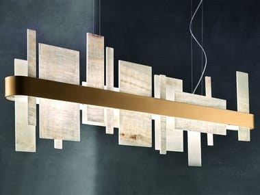 LED pendant lamp in metal and onyx HONICÉ S100