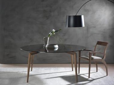 Tavolo rotondo in legno massello HOPE | Tavolo rotondo