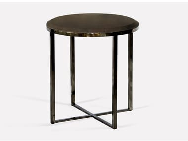 Round metal and marble side table HOPE ROYAL | Coffee table for living room