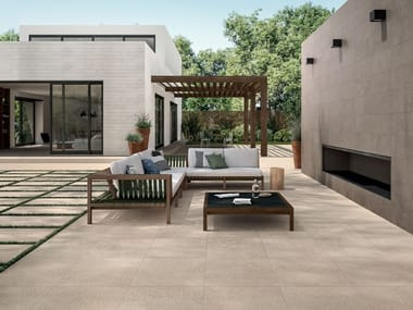 Porcelain stoneware wall/floor tiles with stone effect HORIZON 20MM | Outdoor floor tiles